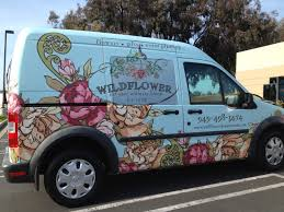 Van Graphics For Florists In San Clemente