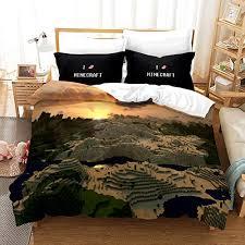3 stück bettwäsche set mikrofaser weicher wende bettbezug set minecraft print design boy schlafzimmer bettwäsche set enthält 1 bettbezug 2