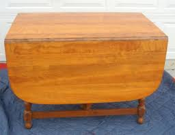 ethan allen maple wood gate leg dining table in antiques