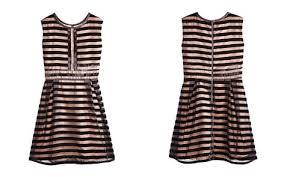 Bardot Junior Girls Velour Striped Dress