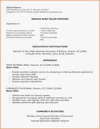 Entry Level Bank Teller Resume Format Banking Free Sample Photo