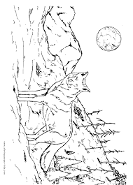 Simple Wolf Coloring Pages Free Sheets