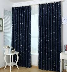 navy star kids blackout curtains blue cute green and red horse