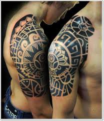 Aztec Half Sleeve Tattoos For Men