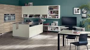 cuisine télé cuisine ouverte sur salon de design italien moderne