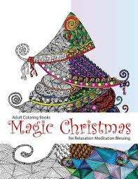 Adult Coloring Book Magic Christmas For Relaxation Meditation Books