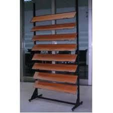 hardwood tile waterfall display rack flooring display stand