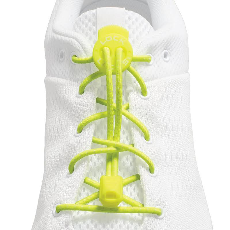 Lock Laces Elastic No Tie Shoelaces - Neon Yellow