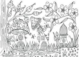 Forest Coloring Pages Printable Rainforest Mushroom