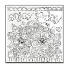 Stupell Enjoy Today DIY Coloring Wall Plaque Black