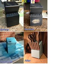 Refurbished Knife Block Project Pinsandpetals