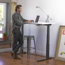 Office Max Stand Up Computer Desk by Standing Workstation Electric Adjustable Height Desk