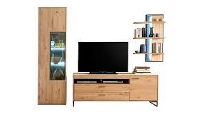 woodford wohnkombination oakland holzfarben wohnwände höffner