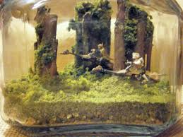 Star Wars Fish Tank Decorations by Star Wars Return Of The Jedi Themed Terrarium Diorama