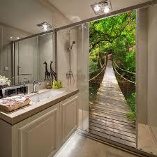 100 Fresh Home And Garden US 207 31 OFFCreative High Quality Wall Room Door Decoration Self Adhesive Wooden Bridge Murals Decal Decorative Door Stickersin Door