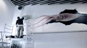 Giant Squid 3D Wall Painting