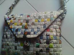 Hobo Bags Recycled Newspaper Craft