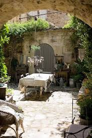 Outdoor Dining Space Rustic Italian Style