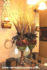 Tuscan Style Bathroom Decor by Flower Arrangement For The Home Pinterest Flower