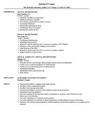 Free Download Dental Receptionist Resume Samples Of 25 Best Ideas About Objective Examples