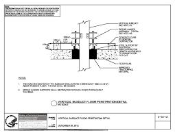Thumbnail Of E 50 01 Vertical Busduct Floor Penetration Detail