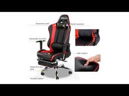Video Gaming Chair With Footrest by Must See Review Merax High Back Racing Home Office Chair