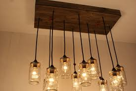 Image Of Rustic Pendant Lighting Glass Jar