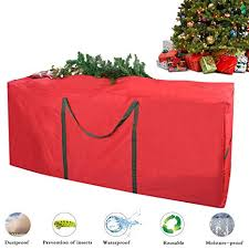 Christmas Tree Storage Bag Justdolife Xmas Heavy Duty Canvas