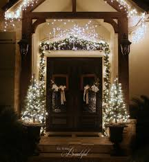 Pre Lit Entryway Christmas Trees by All Things Beautiful Christmas Porch Garland