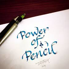 3D Calligraphy Anamorphic Letters Power Of Pencil Design