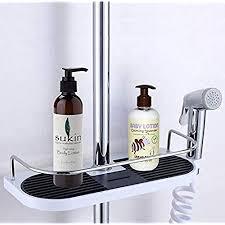 cherryer ablage für duschstange halterung badezimmer regal für seife shoo etc