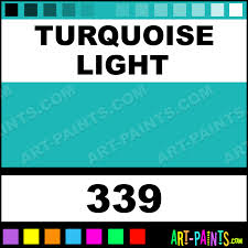 Turquoise Light Colors Oil Paints