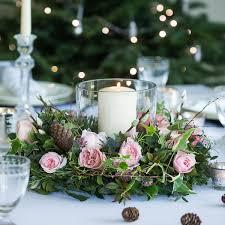 Woodland Antique Table Wreath Christmas Flowers Christmas