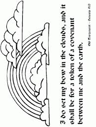 Rainbows Rainbow2 Bible Coloring Pages