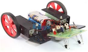 Floor Cleaning Robot Project Report by Line Follower Robot With Circuit Daigram Explanation And Applications