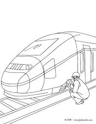 Coloriage à Dessiner Train Gratuit