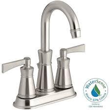 Bathroom Sink Taps Home Depot by Kohler Kelston 4 In 2 Handle Mid Arc Water Saving Bathroom Faucet