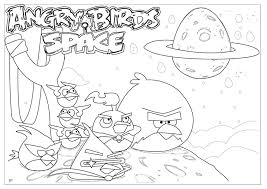 Angry Bird Space Coloring Pages Kidsfree