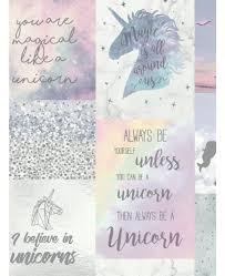 Believe In Unicorns Glitter Wallpaper Arthouse 698300