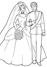 Barbie And Ken In Wedding Ceremony Coloring Page
