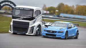 100 Racing Trucks Volvo Pits 2400hp Race Truck Against WTCC Race Car