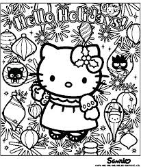 Coloring Pages Hello Kitty Christmas Color Bros Of