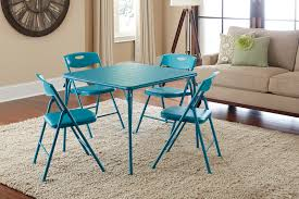 Cosco Home And Office Products 5 Piece Teal Folding Table ... Wooden Table And Chairs For Kids Dark Ding Style Crayola Chair Collapsible Folding Foldable Round Card Fniture Exciting Cosco Interesting Home Card Tables And Chairs Sets Tables Out Toddlers Outdoor Costco Teak Small Vintage Products 5pc Set Tan 5piece Black 7733 2533 Vtg Retro Samsonite 4 Astonishing Large Meco Sudden Comfort Deluxe Double Padded Back 5 Piece Chicory Safe Foldinhalf
