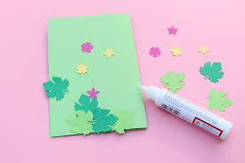Step 3 Cut The Card Into Light Green Paper In A Rectangle Shape 22 Cm Length By16 Height Then Put Elements On