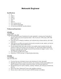Network Engineer Resume Examples Systems Example Sample Cisco