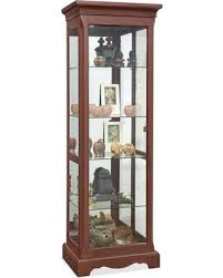 fall sale lighthouse hawthorne cherry curio cabinet by philip