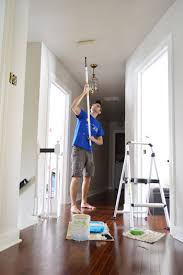 Using A Paint Sprayer For Ceilings by Paint Paint And More Paint Young House Love
