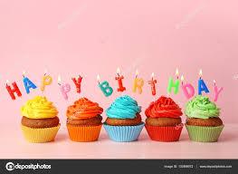 Happy birthday cupcakes — Stock