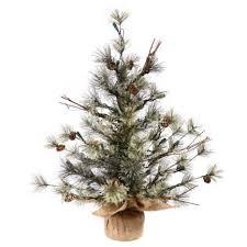 Pre Lit Entryway Christmas Trees by Vickerman Dakota Pine Christmas Tree Tabletop Trees Garden Pre Lit