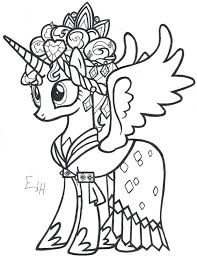 Mlp Coloring Page Lovely My Little Pony Princess Cadence Pages For Your
